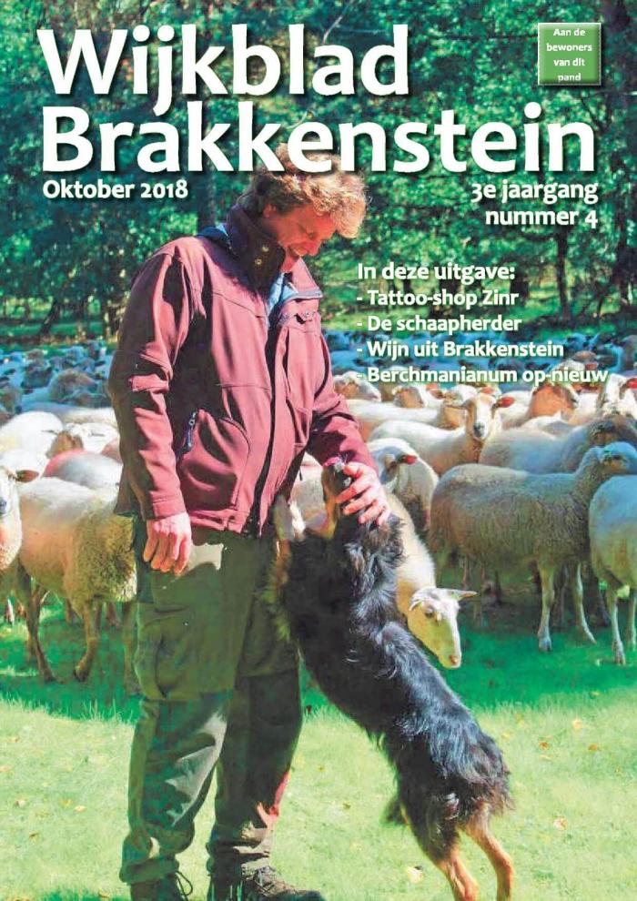 Wijkblad Brakkenstein nummer 4 Oktober 2018 is uit.