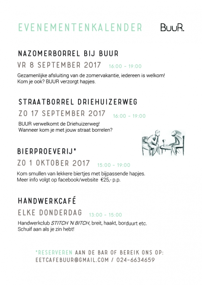 Evenementenkalender september/oktober