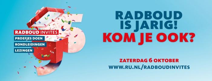 De Radboud Universiteit bestaat 95 jaar! Kom op zaterdag 6 oktober naar Radboud Invites!